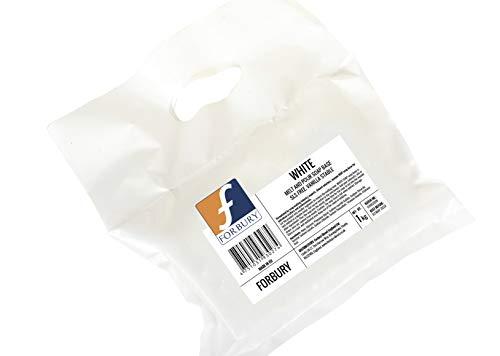 1kg Base de savon de glycérine blanc white opaque, Melt and Pour (Fondre et verser), Sans SLS Forbury