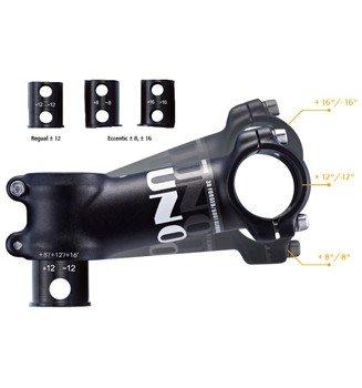 TAQ-PRO ST18 Ahead Potence en aluminium pour VTT/vélo de route Noir mat 31,8 mm 90 mm