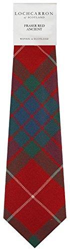 I Luv Ltd Gents Neck Tie Fraser Red Ancient Tartan Lightweight Scottish Clan Tie