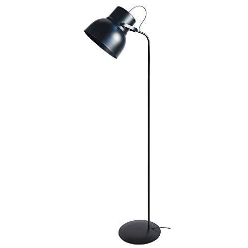Tosel 95062 Lampadaire - Cloche, Tôle et tube acier, peinture époxy, E27, 60 W, Noir
