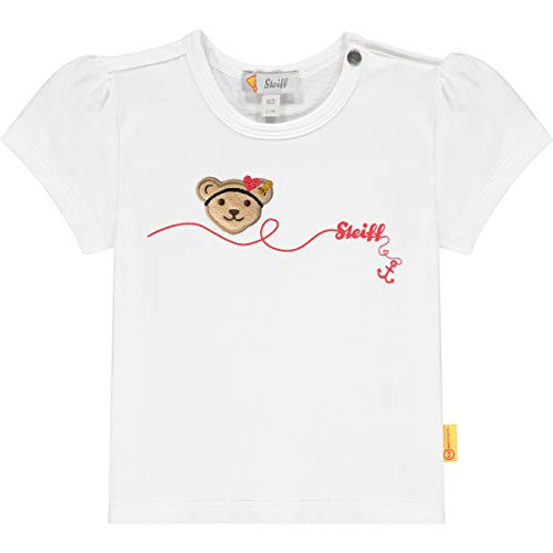 Steiff T-Shirt Camiseta, Blanco Brillante, 62 cm para Bebés