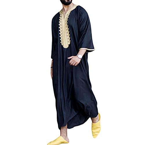 Vestidos Musulmanes para Hombres Kaftan - Oriente Medio Batas De Arabia Saudita Vestidos Turcos Ropa De OracióN para Hombres Thobe Vestidos