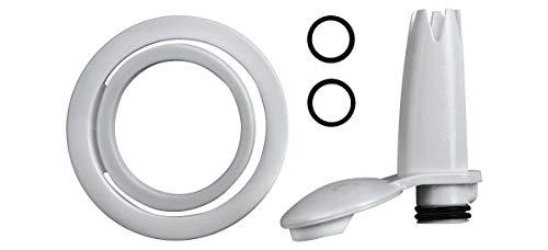 ISI Ersatzteilset Easy Whip weiß (1x Garniertülle weiß, 2X Dichtungsring, 1x Kopfdichtung) Ersatzteil Set für ISI Geräte