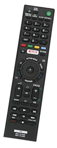 ALLIMITY RMT-TX100D sub RMT-TX102D Fernbedienung Ersatz für Sony Bravia TV FW-43X8370C FW-49X8370C KD-55S8005C KD-55S8505C KD-65X9305C KD-75X8501C KDL-32WD600 KDL-40EX725