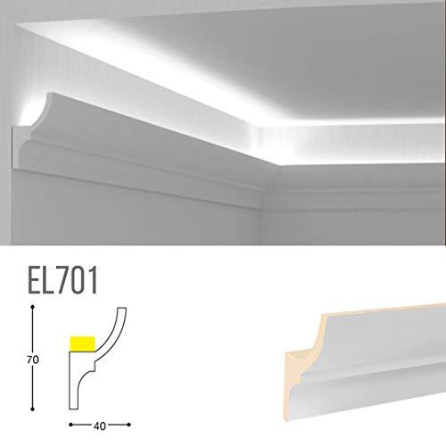 Cornice per illuminazione indiretta led a soffitto - EL701 (2 metri)