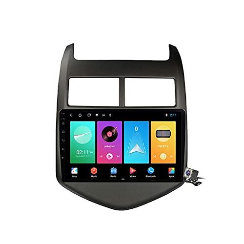 Radio de coche GPS Android 10 de 9 pulgadas para Chevrolet Aveo 2 2011-2015 incorporado Carplay Android soporte 5G WiFi pantalla dividida/control del volante/cámara de visión trasera