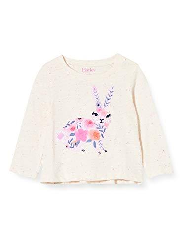 Hatley Long Sleeve tee Camiseta, Conejito Adornado, 3 años para Bebés