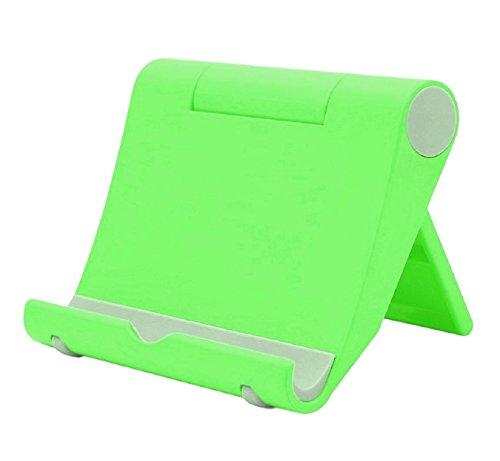 Multi-Winkel Handyständer Smartphone Ständer Handyhalter für Tablets Phablets E-Reader iPhone iPad bis 10 Zoll Verstellbar (grün)