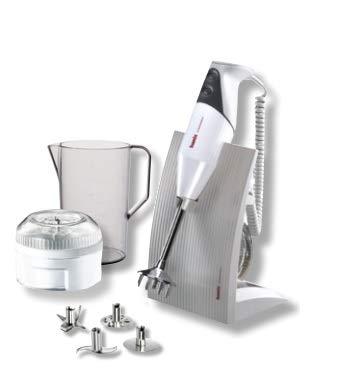 Bamix SwissLine White 200W Robot da Cucina Frullatore ad Immersione, Grigio
