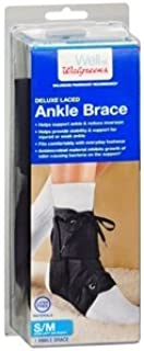 Walgreens Deluxe Laced Ankle Brace, Small/Medium, 1 ea by Walgreens