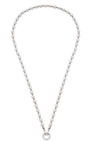 Jewels by Leonardo DARLIN'S Damen-Halskette Signora, Edelstahl mit Imitationsperlen, Clip & Mix System, Länge 600 mm, 016751