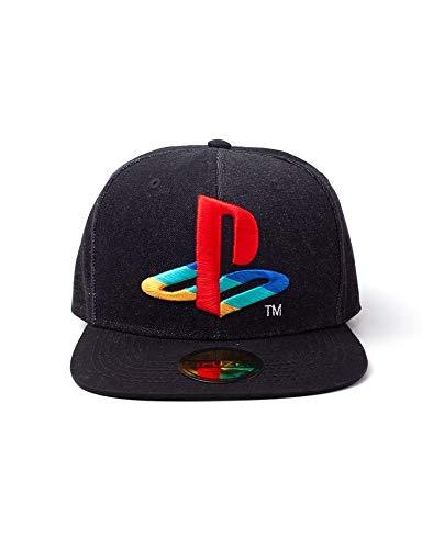 Sony Playstation Logo Denim Bestickt Baseball Kappe Snapback, Schwarz Sb247883sny