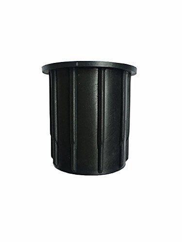 SUQ I OME Patio Outdoor Umbrella Parasol Base Stand Hole Ring Plug Cover and Cap 2.1 inch (Black)