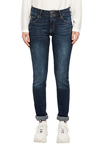 Q/S designed by - s.Oliver Damen 41.910.71.3190 Slim Jeans, Blau (Blue Denim 58z6), 36 (Herstellergröße: 36/36)