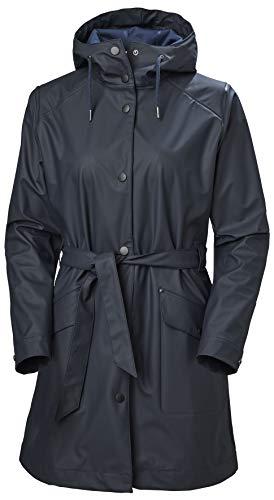 Helly Hansen W Kirkwall Ii Raincoat Chaqueta, Mujer, Navy, S