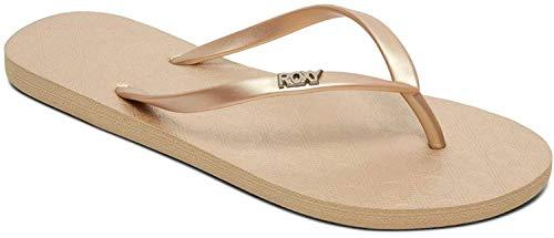 Roxy Viva, Zapatos Playa Piscina Mujer, Dorado Metallic