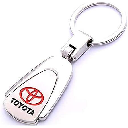 PSL Porte-cl/és en m/étal avec Logo de Voiture Compatible avec la Marque Toyota