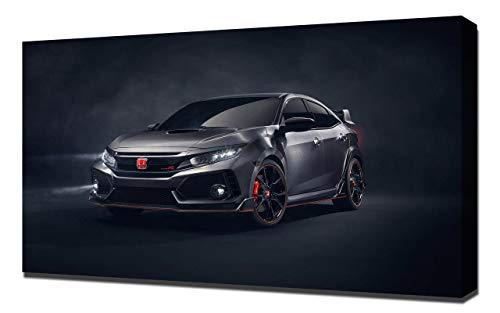 Lilarama 2016-Honda-Civic-Type-R-Concept-V1-1080 - Art Leinwandbild - Kunstdrucke - Gemälde Wandbilder