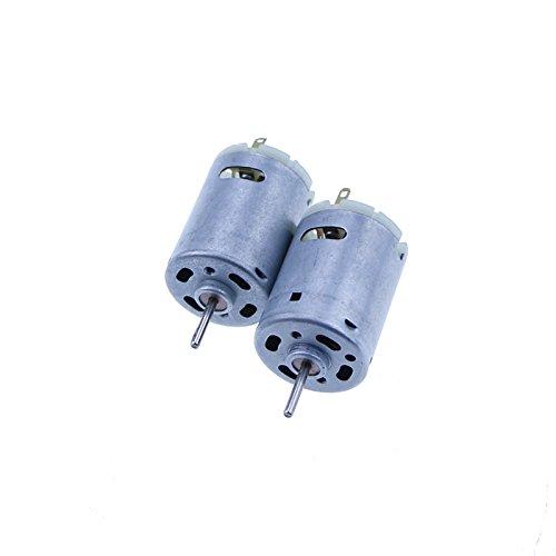 385DC 6-24V starker Mikro-Magnet Kohlebürste Gleichstrom-Motor für Heimwerker-Spielzeug, 2 Stück