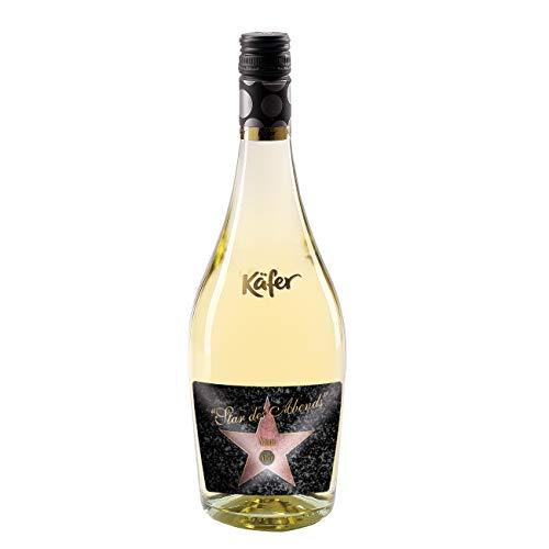 Herz & Heim® Feinkost Käfer Secco Bianco Frizzante in einer formschönen Flasche mit personalisiertem Etikett (weiß trocken) 750 ml Walk of Fame