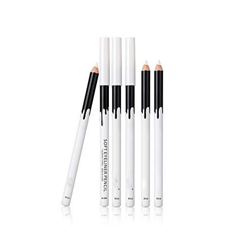 1pc Eyeliner Blanc Crayon Beauté cosmétique imperméable lisse outil maquillage longue durée Eyeliner fard à paupières professionnels surligneur (blanc)