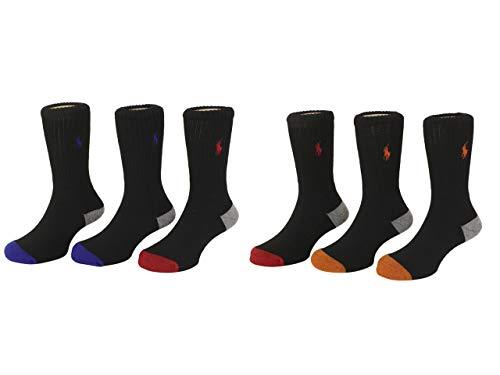 Polo Ralph Lauren Boys 6PK Athletic Crew Socks