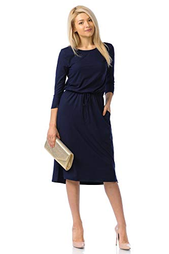 iconic luxe Women's Relaxed Midi Dr…