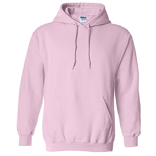 Gildan Youth Heavy Blend Hooded Sweatshirt (Light Pink) (X-Large)
