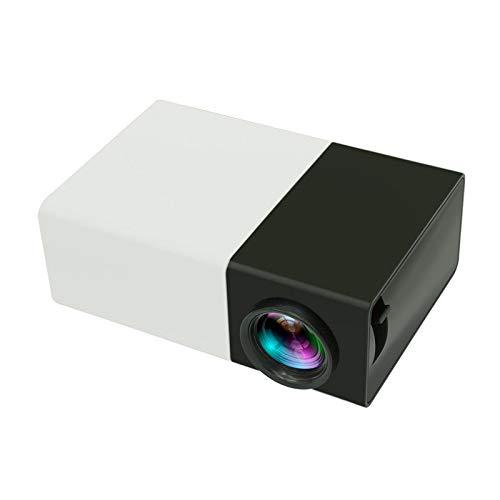 OUYAWEI Erelectronics YG300 - Mini proyector LCD LED (400 – 600 lm, 1080 p, enchufe británico)