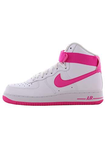 Nike Damen WMNS Air Force 1 High Basketballschuhe, Mehrfarbig (White/Laser Fuchsia/True Berry 110), 37.5 EU