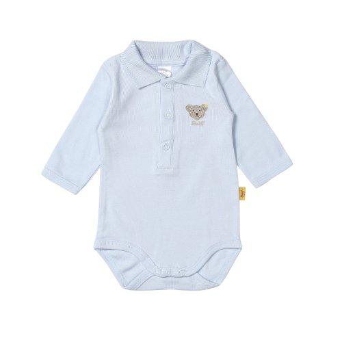 Steiff Unisex - Baby Body 0008713, Gr. 74, Blau (baby blue 3023)