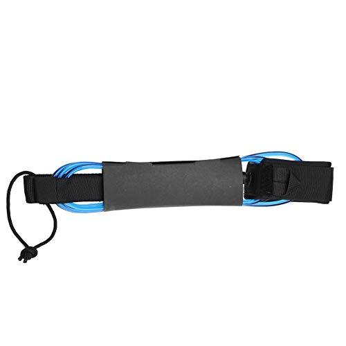 VGEBY Surf Leash 5 Colores TPU 6ft 5.5mm Surfboard Leash con Cierre de Gancho y Bucle Doble Giratorio de Metal(Azul Transparente)