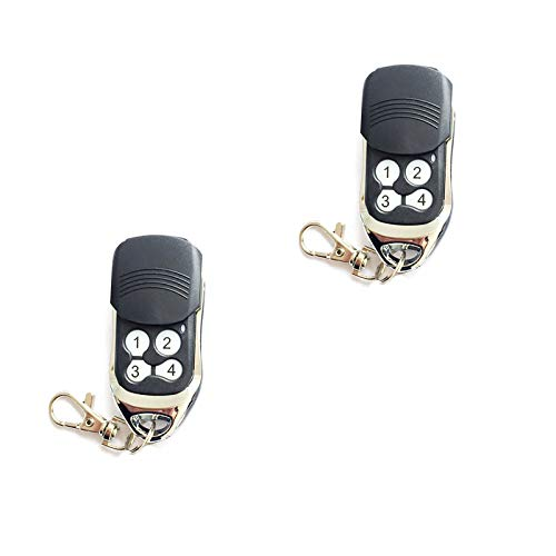 2 mandos a distancia para persianas enrollables y puertas de garaje con 4 botones de seguridad.