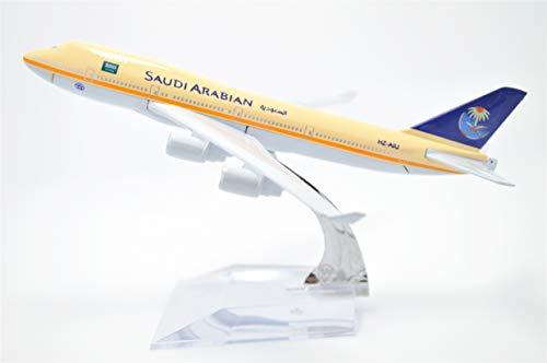 TANG DYNASTY(TM) 1:400 16cm B-747 Saudi Arabian Airlines Metal Airplane Model Plane Toy Plane Model