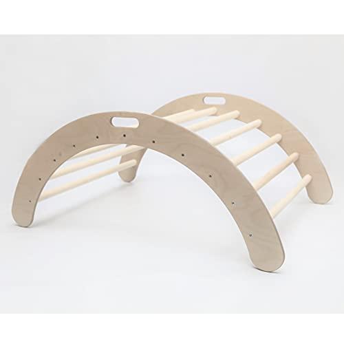 Arco de escalada para niño Escalera de escalada arco para niños Pikler triángulo arco escalera mecedora (sin rampa)