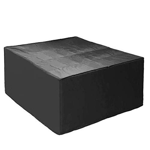 SEESEE.U 270x270x90cm Garden Furniture Covers, Patio Furniture Cover Rectangular, 420D Large Outdoor Rattan Furniture Cover For Waterproof Windproof Snow Ultraviolet Rays,Black