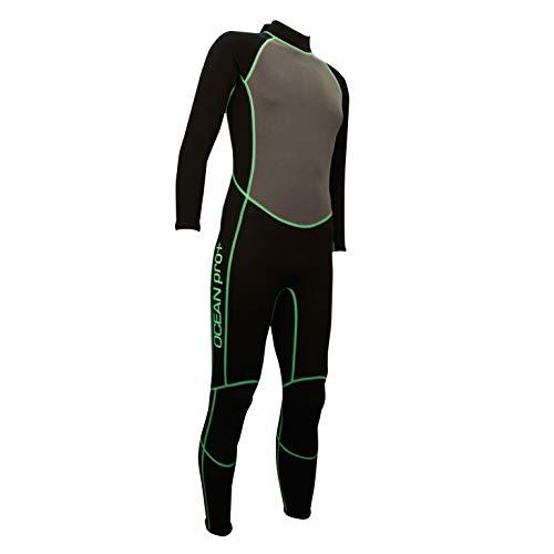 OCEAN PRO + Neoprenanzug für Damen und Herren 3,2mm Neopren Anzug Lang (XS)