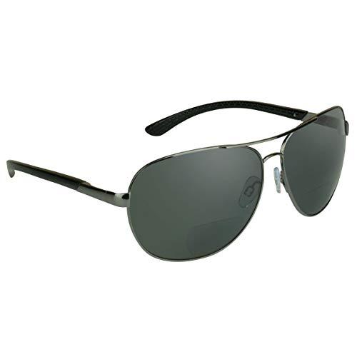 small For readers proSPORT Polarized bifocal aviator goggles +2.00 metal smoke lens men's. fit…