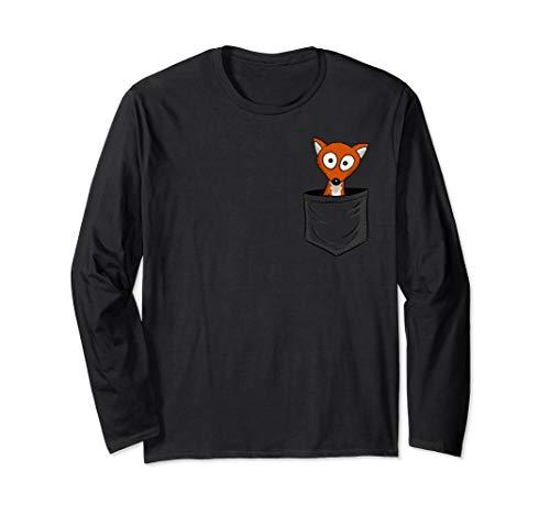 Fuchs-Fan-Art   Foxy Fuchs In Deiner Tasche Langarmshirt
