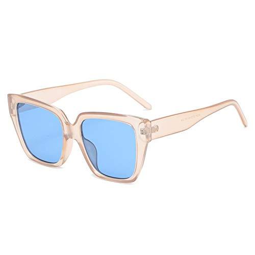 ZZOW Gafas De Sol Cuadradas con Degradado De Color Caramelo A La Moda para Mujer, Gafas De Sol Vintage con Forma De Ojo De Gato Púrpura Y Champán para Hombre, Gafas De Sol Uv400
