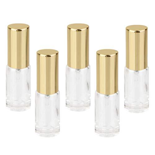 non-brand 5X Perfume Recargable de Vidrio Botella Vacía Bomba Envase de Spray Vial 5ml