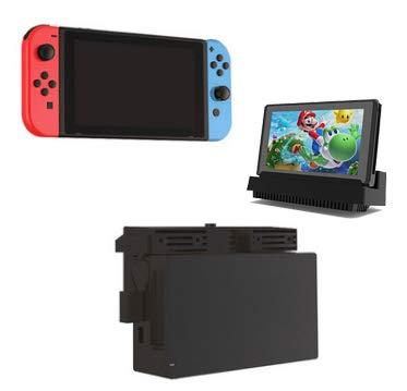 TwiHill Dock Cooler, Suporte de Dissipação de Calor USB Externo com 2 Ventiladores de Resfriamento, Super Turbo Temperature Cooler Suporte de Ventilador para Nintendo Switch Dock Original