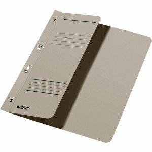 Leitz Ösenhefter A4 1/2 Vorderdeckel Karton kaufmännische Heftung grau