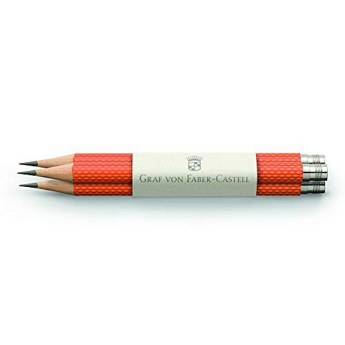 Graf von Faber-Castell 118661 Bleistift, 3er Set orange