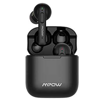 Wireless Earphones, Mpow Wireless Earbuds Active Noise Cancelling w/ 4 mics, Earphones Noise Cancelling 30h Playtime, ANC Bluetooth Earbuds w/ Deep Bass, IPX8 Waterproof, Touch Control, USB-C Charge from Mpow