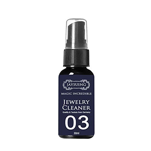 smallbear21 Instant Shine Jewelry Cleaner Spray, Jewelry Cleaner for All Jewelry,Jewelry Cleaning Spray Silver Jewelry Cleaner Solution and Tarnish Remover Restores Shine (30ml)
