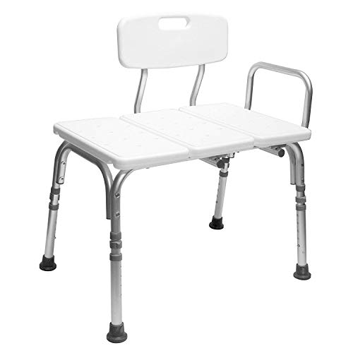 Carex Tub Transfer Bench - Shower Chair Transfer Bench with Height...
