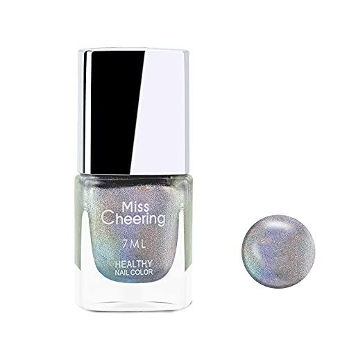 Ownest Holographic Nail Polish, Gorgeous Glossy Holographic Halo Glitter Polish Nail Art Nail Pigment Diamond Laser Nail Polish -LS01