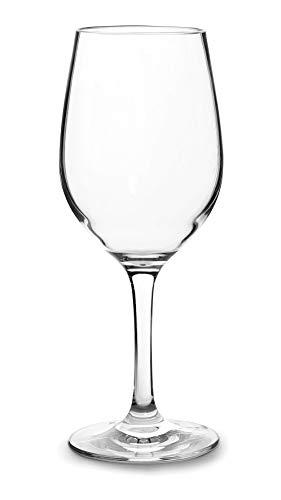 Lacor 63143 63143-Set di 6 Bicchieri Bianchi in Tritan Senza BPA, Plastica