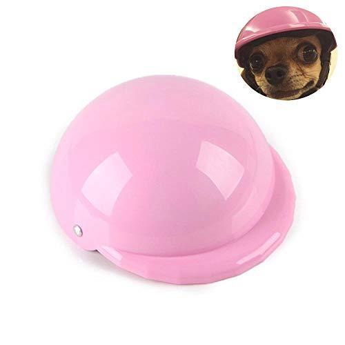 Hamkaw Hunde-Helm, Mütze für Hunde, Welpen, Motorradhelm, Sonnenschutz, Regenschutz, Zubehör für kleine und mittelgroße Hunde